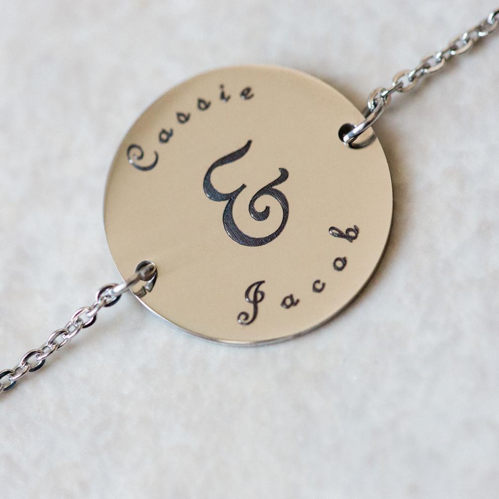 Circle Pendant Bracelet - Silver