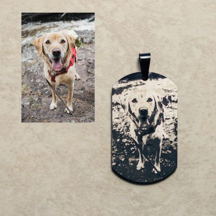 Black Dog Tag - Dog Engraved