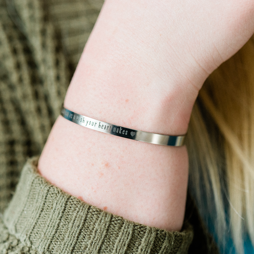 Your Own Text Engraved Cuff Inspirational Gift Custom Name Jewelry Customized Bracelet Personalize Bracelet Custom Cuff