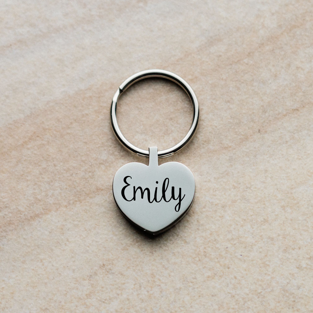 Name Heart Keychain