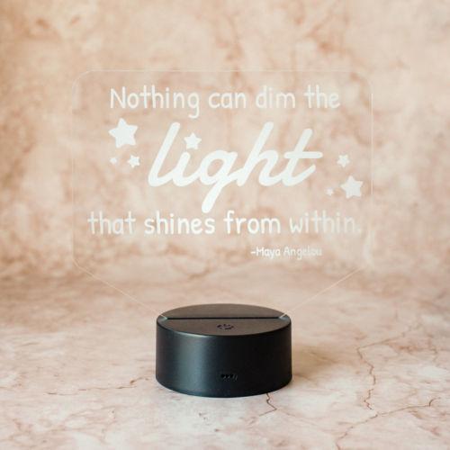 Personalized Rectangle Illuminated Desk Lamp