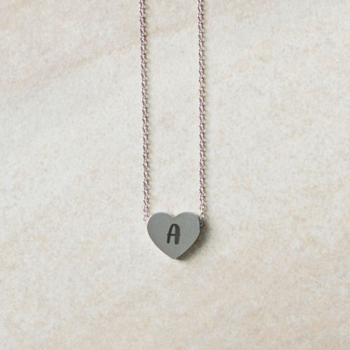 Mini Initial Heart Necklace